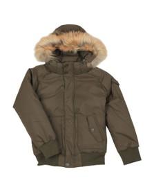 Pyrenex Boys Green Jami Fur Jacket