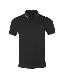 BOSS Mens Black Athleisure Paul Curved Polo