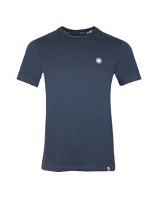 Pretty Green Mens Blue Basic Tee