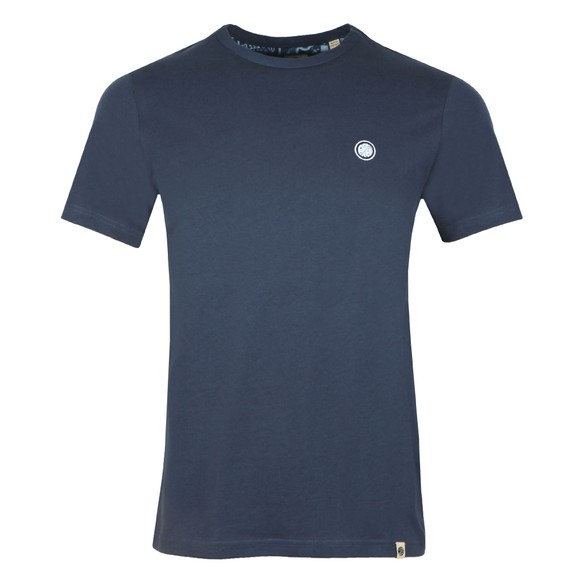 Pretty Green Mens Blue Basic T-Shirt main image