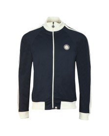 Pretty Green Mens Blue Contrast Panel Sleeve Track Top