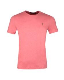 Polo Ralph Lauren Mens Pink Custom Slim Fit Pima Cotton T Shirt