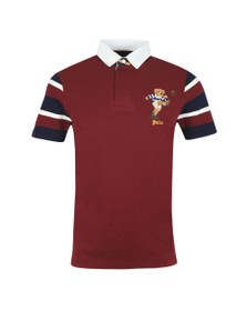 Polo Bear By Ralph Lauren Mens Red Short Sleeve Rugby Bear Polo Shirt
