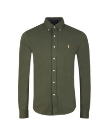 Polo Ralph Lauren Mens Green Featherweight Mesh Shirt