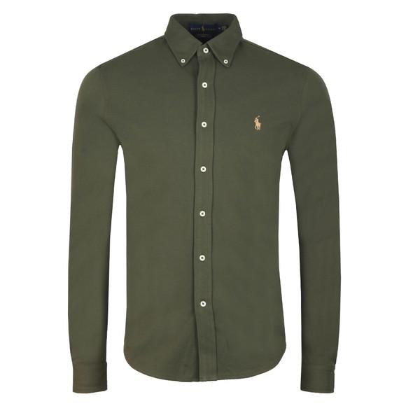 Polo Ralph Lauren Mens Green Featherweight Mesh Shirt