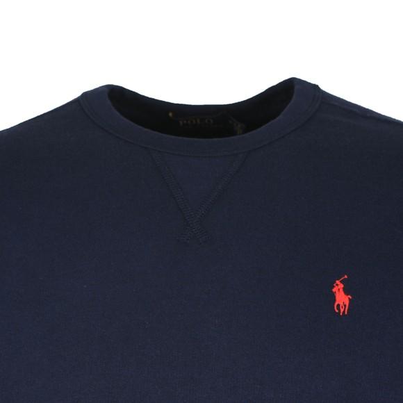 Polo Ralph Lauren Mens Blue Fleece Crew Neck Sweatshirt