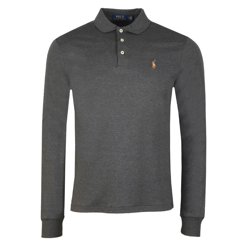 Long Sleeve Slim Fit Pima Cotton Polo Shirt