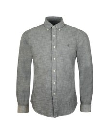 Polo Ralph Lauren Mens Grey Slim Fit Chambray Shirt