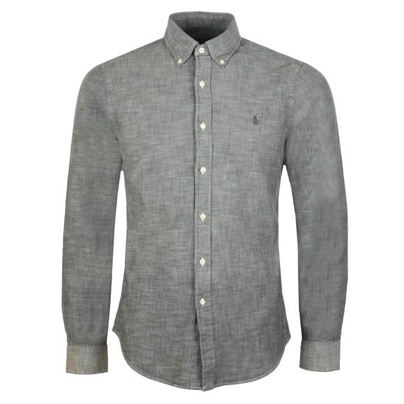 Polo Ralph Lauren Mens Grey Slim Fit Chambray Shirt
