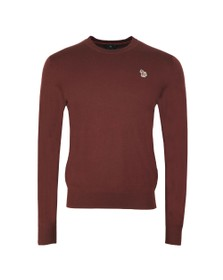 PS Paul Smith Mens Red Crew Neck Jumper