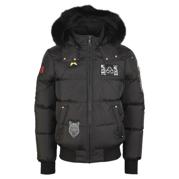 Moose Knuckles Mens Black Colinton Bomber Down Jacket