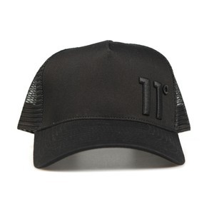 Eleven Degrees Mens Black Trucker Cap main image