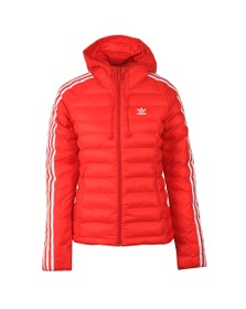 adidas Originals Womens Red Slim Puffer Jacket