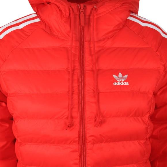 adidas Originals Womens Red Slim Puffer Jacket main image