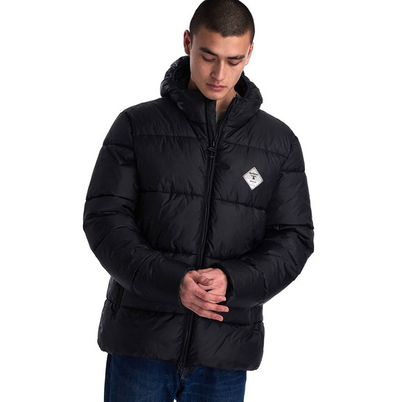 Barbour Beacon Mens Black Ross Quilt Jacket main image