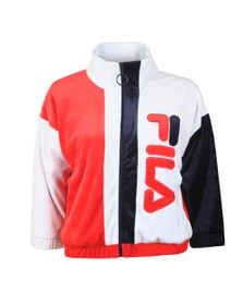 Fila Womens White Aya Velour Track Jacket