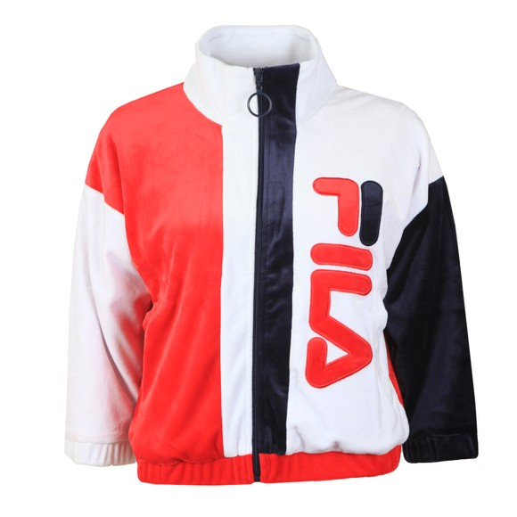 Fila Womens White Aya Velour Track Jacket main image