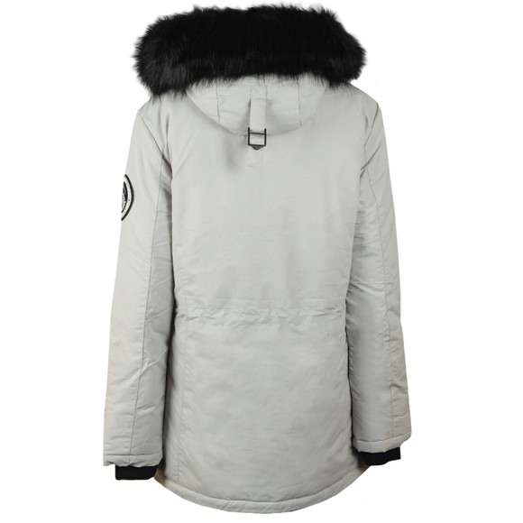 Superdry Womens Grey Ashley Everest Parka Jacket main image