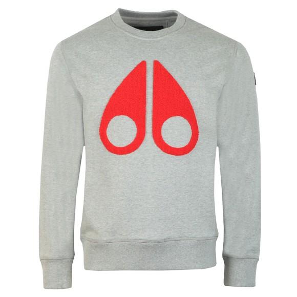 Moose Knuckles Mens Grey Logo Sweatshirt