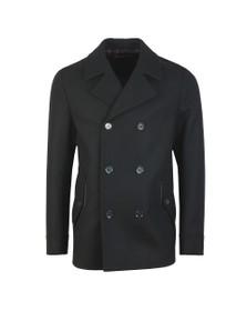 HUGO Mens Black Balno1941 Wool Coat