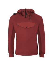 Ma.Strum Mens Red Velo Softshell Overhead Jacket