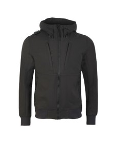 Ma.Strum Mens Black Velo Hooded SoftShell Jacket