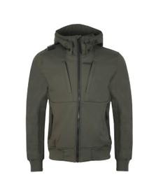 Ma.Strum Mens Green Velo Hooded SoftShell Jacket