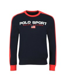 Polo Ralph Lauren Sport Mens Blue Large Logo Knitted Jumper