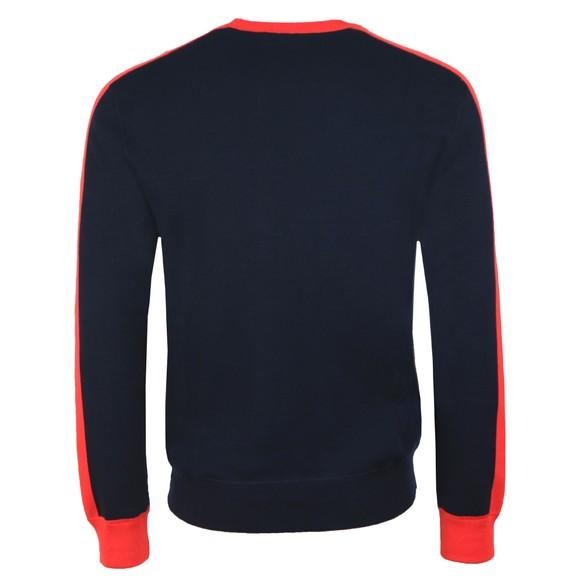 Polo Ralph Lauren Sport Mens Blue Large Logo Knitted Jumper main image