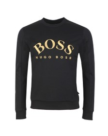 BOSS Mens Black Athleisure Sly Salbo Crew Sweatshirt