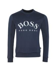 BOSS Mens Blue Athleisure Sly Salbo Crew Sweatshirt