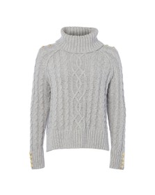 Holland Cooper Womens Grey Portland Cable Knit Jumper