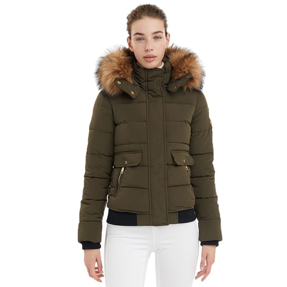 Holland Cooper Womens Green Ventina Puffer Jacket main image