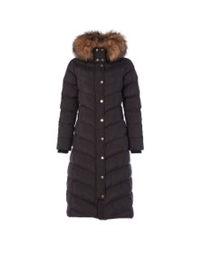 Holland Cooper Womens Black Longline Glacier Puffer Jacket