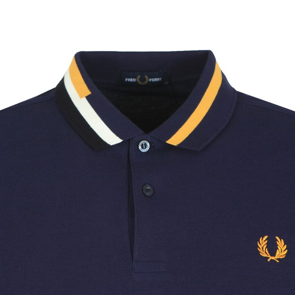 Fred Perry Mens Blue Abstract Collar Polo main image