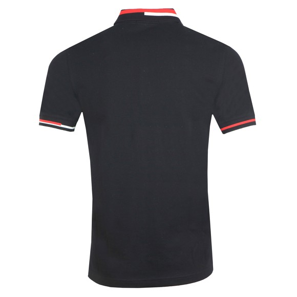 Fred Perry Mens Black Abstract Collar Polo main image