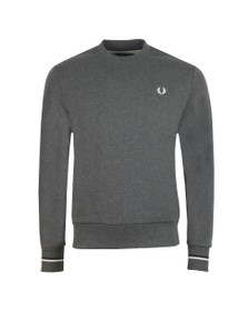Fred Perry Mens Grey Crew Neck Sweat
