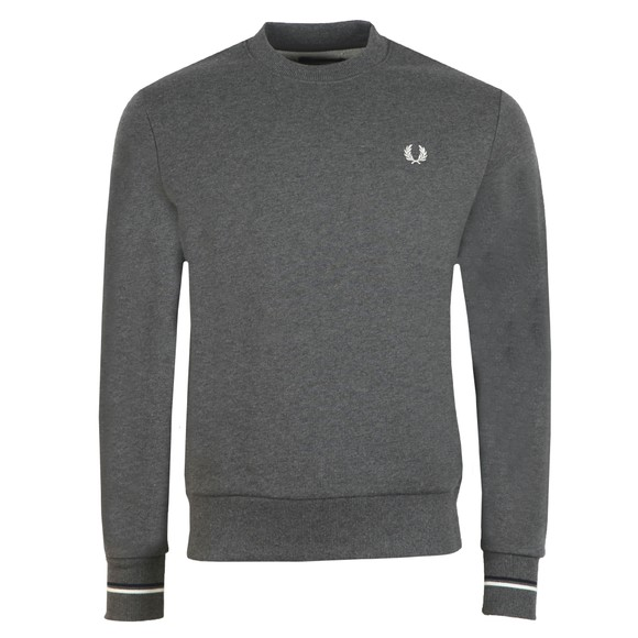 Fred Perry Mens Grey Crew Neck Sweatshirt main image