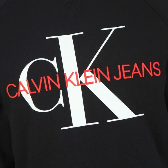 Calvin Klein Jeans Mens Black Washed Monogram Sweat main image