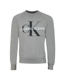 Calvin Klein Jeans Mens Grey Washed Monogram Sweat
