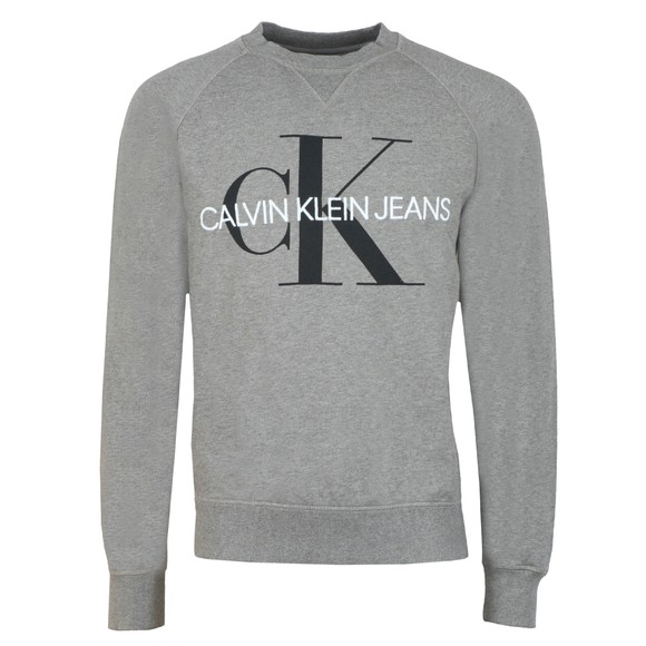 Calvin Klein Jeans Mens Grey Washed Monogram Sweatshirt main image