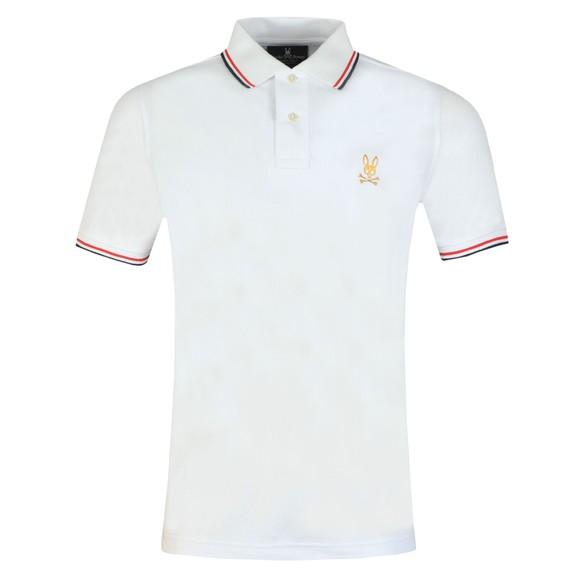 Psycho Bunny Mens White St Lucia Polo Shirt main image