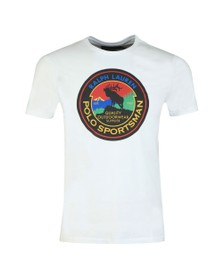 Polo Ralph Lauren Mens White Large Moose Logo T-Shirt