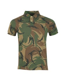 Polo Ralph Lauren Mens Grey Camo Custom Slim Fit Polo Shirt
