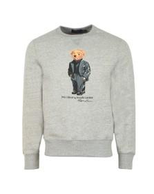 Polo Bear By Ralph Lauren Mens Grey New Bear Logo Sweatshirt