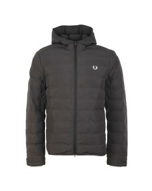 Fred Perry Mens Black Insulated Hooded Jacket