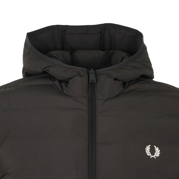 Fred Perry Mens Black Insulated Hooded Jacket main image
