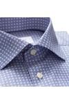 Eton Mens Blue Circle Pattern Shirt
