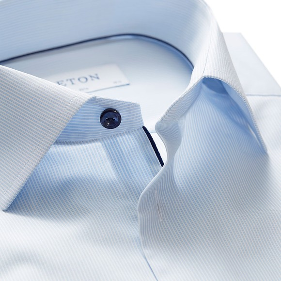 Eton Mens White Twill Shirt With Navy Details main image