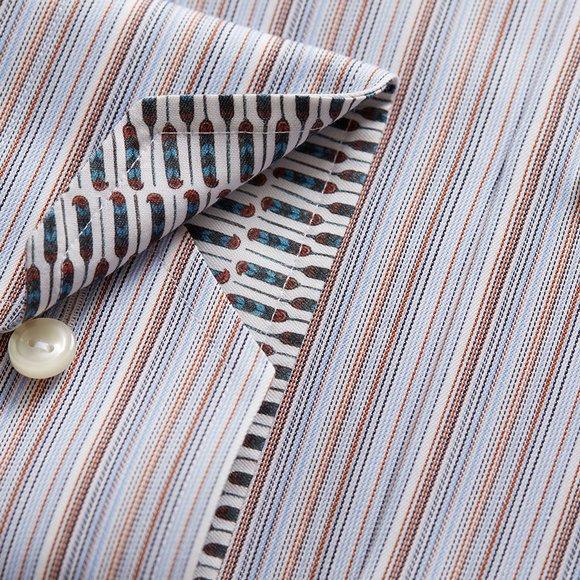 Eton Mens Blue Signature Twill Stripe Shirt main image